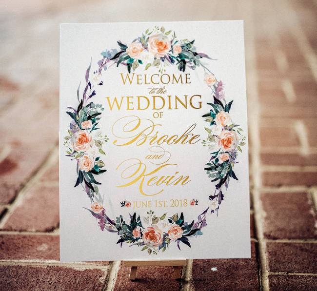 country chic wedding banner