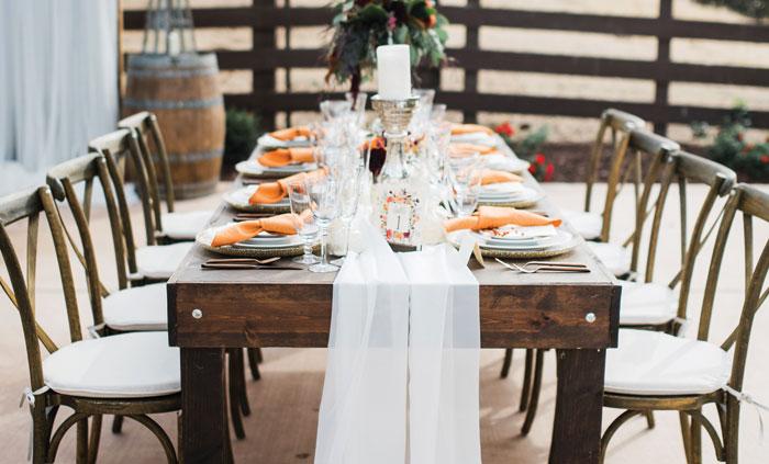 autumn elegance table